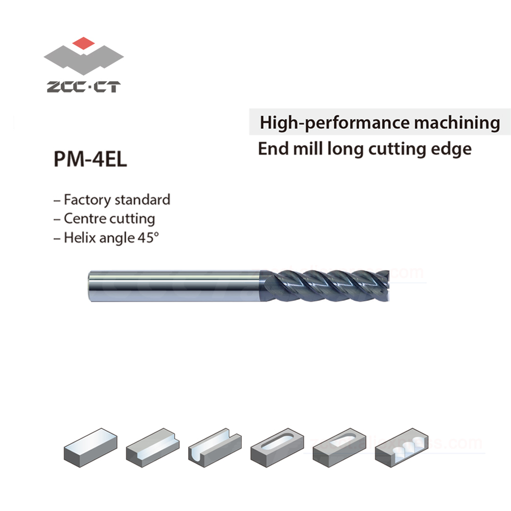 1pc ZCC 10 Mm Solid Carbide End Mill 60HRC PM-4EL-D10.0 100 Mm Length 4 Flutes Milling Cutter