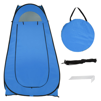 1-2 Person Portable Pop Up Toilet Shower Tent Changing Room Dressing Tent Camping Shelter Blue Portable Privacy Shower Toilet outdoor bathing tent pop up privacy tent instant portable shower tent camp toilet rain shelter for camping and beach