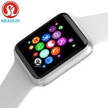 ساعة ذكية سلسلة 4 لابل 42 مللي متر Smartwatch اللياقة البدنية المقتفي passmeter النشاط معصمه معدل ضربات القلب الاستشعار (زر أحمر)