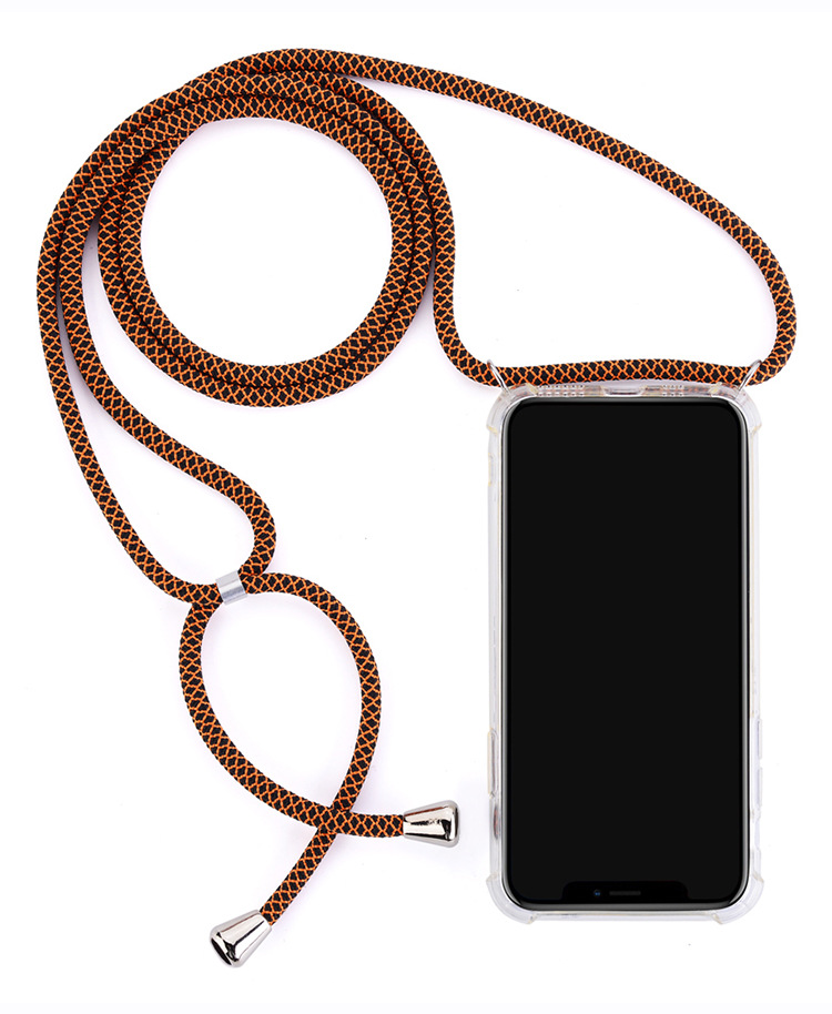 Image 5 - Crossbody Necklace Phone Case With Colorful Strap Cord Clear Shockproof Phone Case Cover Rope For Huawei P10 P20 P30 Pro Mate10
