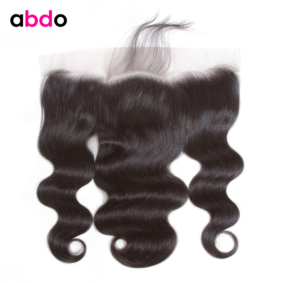 Body Wave Frontal 13*4 Lace Frontal Closure With Baby Hair Peruvian Hair 22 Inch Non Remy Lace Frontal Human Hair Closure Abdo
