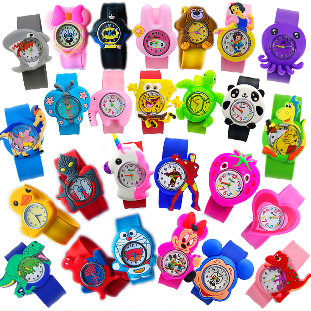27 Animal Patterns Child Cartoon Toys Children Watch Students Clock Kids Electronic Quartz Watches Boys Girls 2-9 Years Old Gift