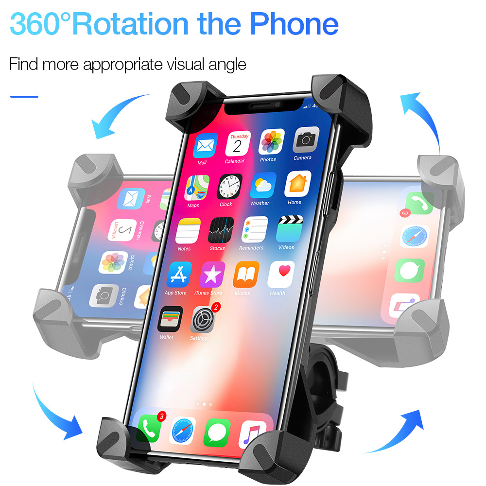 Adjustable Bicycle Mobile <font><b>Phone</b></font> <font><b>Holder</b></font> <font><b>Bike</b></font> Motocycle <font><b>Phone</b></font> <font><b>Holder</b></font> for 4-7 inch for iPhone X XR Xs Max <font><b>Samsung</b></font> S8 <font><b>S9</b></font> Smartphone image