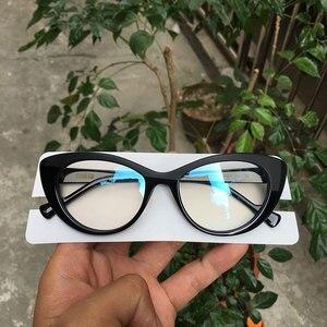 Image 3 - 최고 품질의 새로운 도착 대형 고양이 눈 디자이너 안경 프레임 여성 blogebrity 있어야합니다