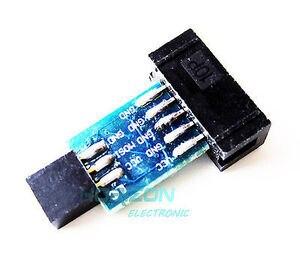 5 шт. 10Pin в 6PiN адаптер конвертировать в стандартный 10 Pin в 6 Pin плата для ATMEL STK500 AVRISP USBASP ISP интерфейс конвертер AVR