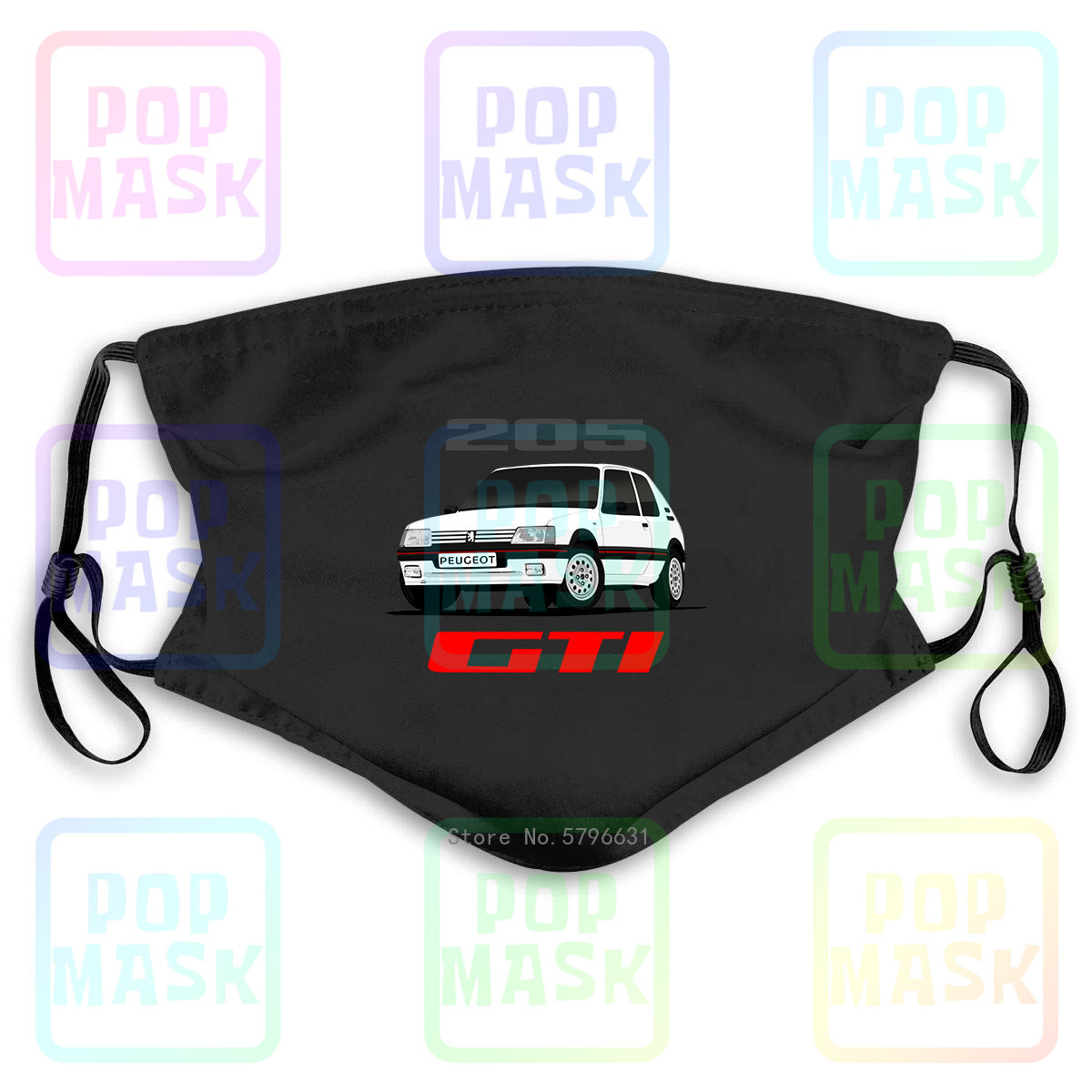 Anti Pollution Mask Peugeot 205 Gti Rally Racing Soft Wrc Replaceable Filter Anti-PM2.5