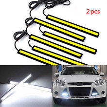 2019 New Practical Universal Waterproof Daytime Running Lights COB Fog Lamp Car Styling Led Day Light DRL Low Power Consumption(China)