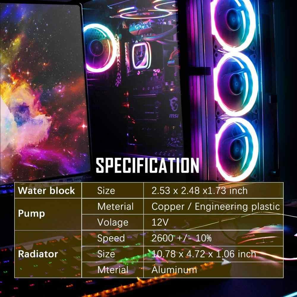 Aigo Cpu Pendingin Air Pendinginan Komputer 120 Mm Fan Cpu Air Cooler Radiator Gratis Gemuk Termal Pendingin CPU untuk LGA 2011/1151/AM4