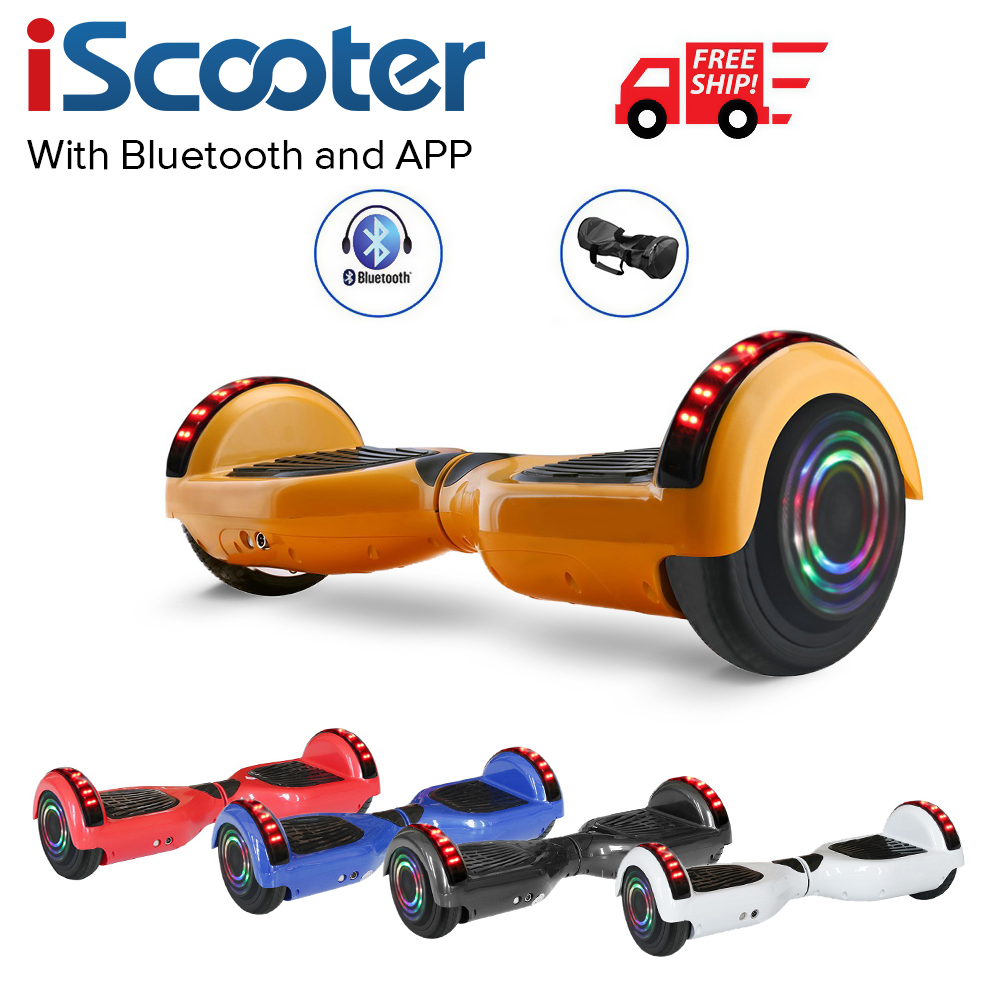 6.5 Inch Electric Skateboard APP Control Hoverboard 2Wheels Electric Scooter Balance Hover Board Skateboard Powered Walkcar