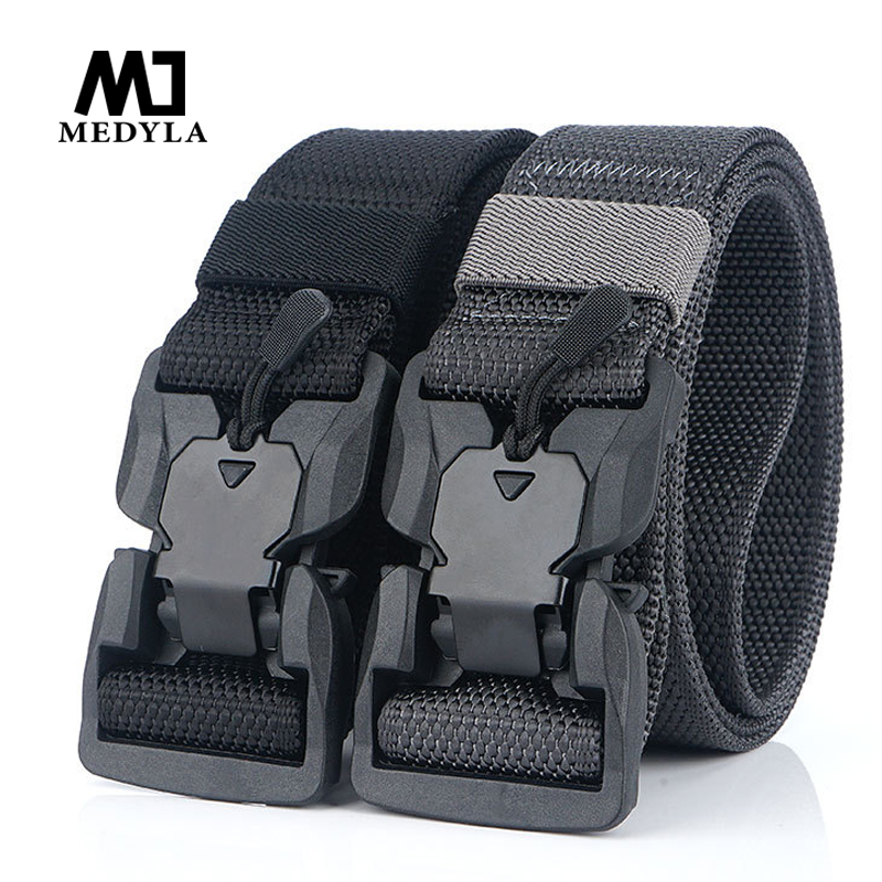 Medyla Tactical Belt Military High Quality Nylon Men's Training Belt Multifunctional Buckle Outdoor Sports Hook Multiple Colour