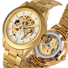 Exquisite Hollow-out Dial Mechanical Watch for Men Gentle Stainless Steel Strap Watches Male Luminous Pointers horloges mannen daybird 3533 stainless steel analog hollow out mechanical wrist watch for men silver