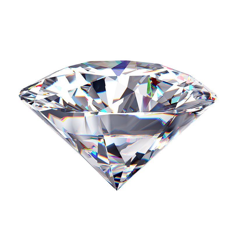 D Color Loose Moissanite  Round Brilliant Cut VVS Grade Jewelry Loose Stone High Quality Ring DIY Material