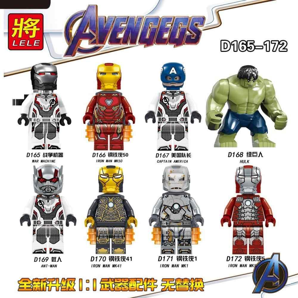 8 pz/set The Avengers Heroes Building Blocks Kit Hulk e Captain & Thor e Iron-man legoinglys Modello Assemblare mattoni Giocattoli Per I Bambini