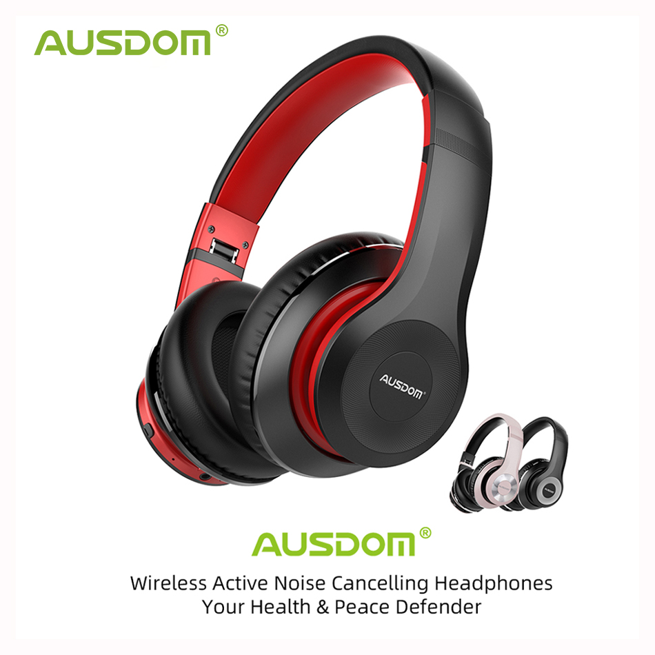 Ausdom ANC10 Active Noise Cancelling Bluetooth Wireless Headphones Foldable 30H Play time Hifi Deep Bass Bluetooth Headset|Bluetooth Earphones & Headphones|   - AliExpress