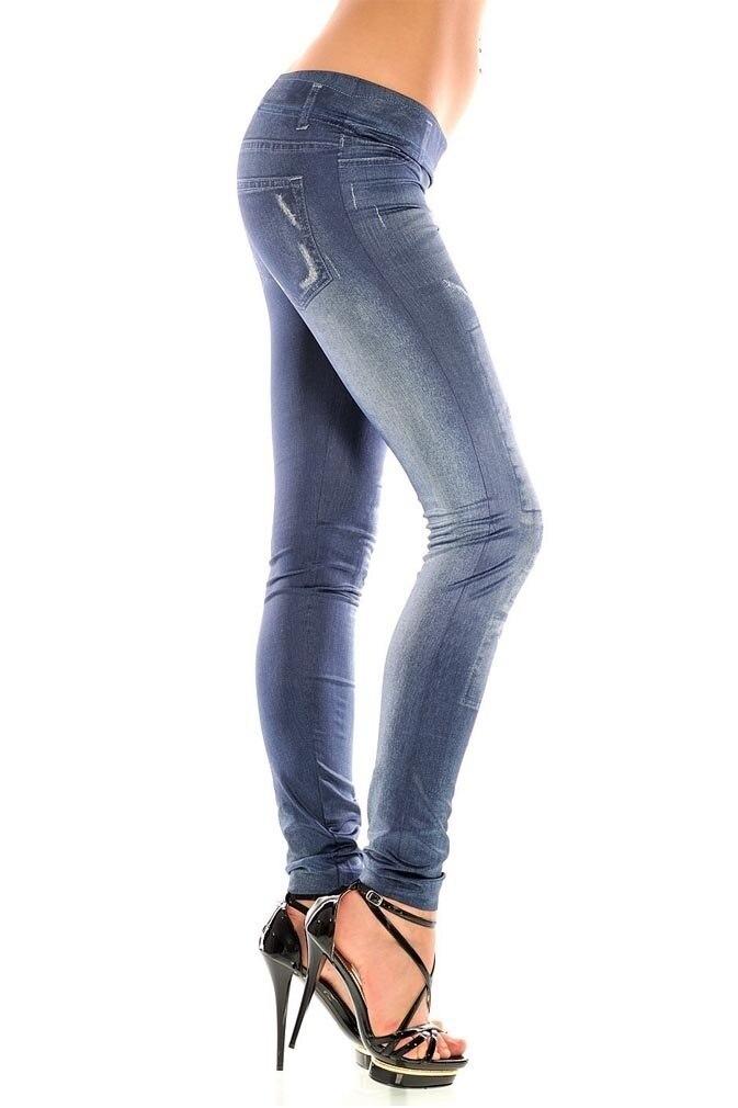 Hd692071bf0494e2ab3411b21cb54efbbp Girls fashion New Stylish Gray Faux Jean Denim Like Women Leggings Pants -OPK