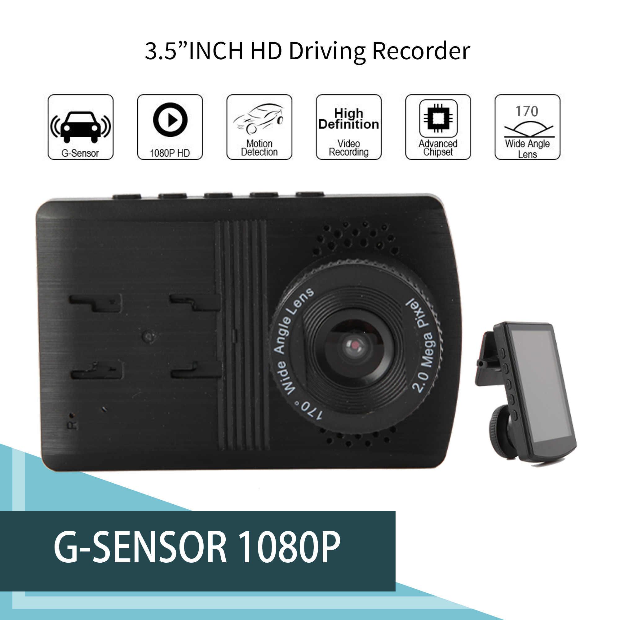 Luckdragon kamera samochodowa Full HD 1080P 170 stopni, kamera samochodowa rejestratory wideo dla samochodów Night Vision g-sensor kamera na deskę rozdzielczą