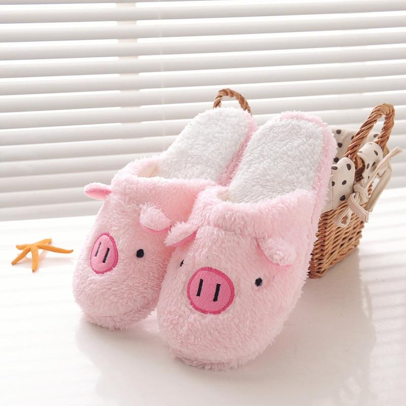 Новые зимние женские тапочки; домашняя обувь для женщин; Chinelos Pantufas Adulto; модные домашние тапочки на меху с милым медведем и Свинкой