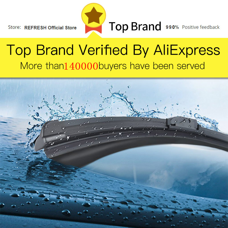 Image 2 - REFRESH Windscreen Wiper Blades for Toyota Avensis T250 / T270 / Verso Mk2 Mk3 Fit Hook Arms / Push Button Arms-in Windscreen Wipers from Automobiles & Motorcycles