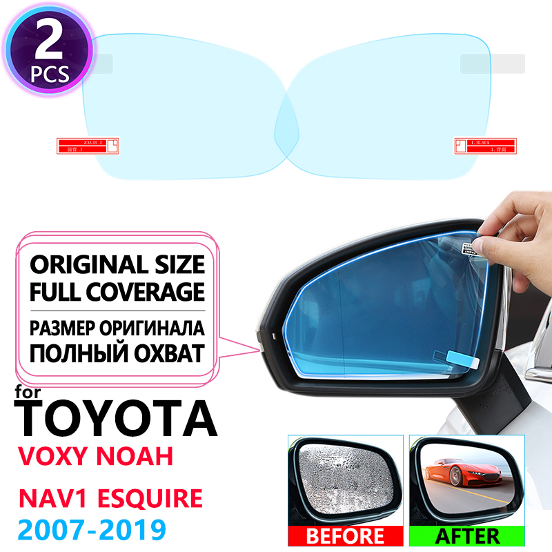 Full Cover Anti Fog Rainproof Film Rearview For Toyota Voxy Noah Nav1 Esquire R70 R80 70 80 2007~2019 Car Stickers Accessories