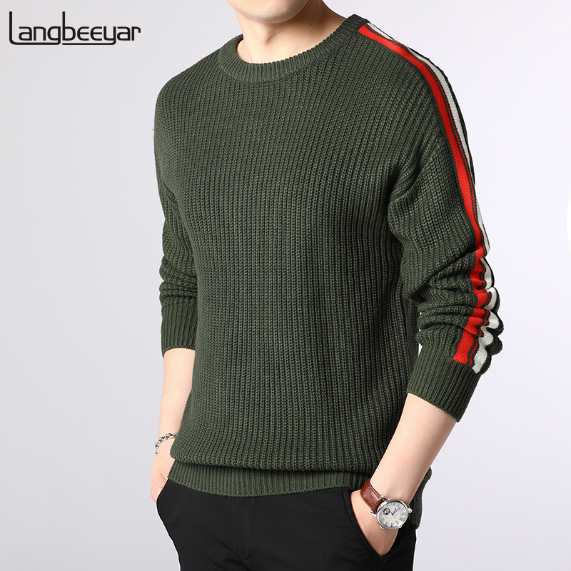 2019 New Fashion Brand Sweater Men Pullovers O-Neck Slim Fit Jumpers Knitwear Hip Hop Autumn Korean Style Casual Clothing Male