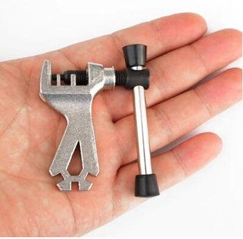Łańcuch rowerowy łańcuch-urządzenie do cięcia grać wisiorek ekspres do Split wisiorek Maker z klucz do szprych górski szosowy składany podróży tanie i dobre opinie
