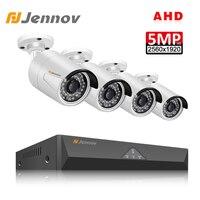 Jennov 4CH 5MP DVR AHD Camera CCTV Set Outdoor Camera Security System IP Video Surveillance Kit P2P HD Night Vision H.265 IR Cut