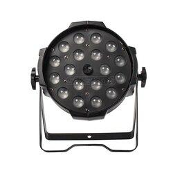Top Seller 18x18W Luz LED Par Zoom Função 10-60 Grau Suave Dimmer Cor Mudando Estágio Profissional & Dj RGBWA + UV 6in1