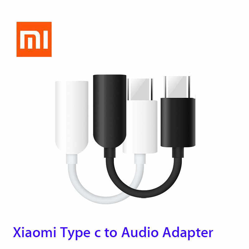 Original xiaomi Type c to 3.5mm Headphone jack 3.5 AUX USB C Cable for xiaomi Mi 9 8 se 6 6x mix 3 2s 8 lite Audio USB C Adapter