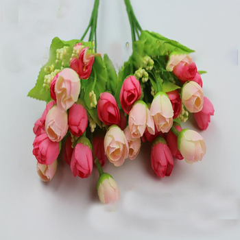 50 bouquets of artificial rose buds wedding bride holding vase flower pot flower arrangement decoration small bouquet