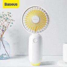 Baseus Protable Handheld Fan 3 Speed Mini USB Rechargeable Fan with 1500mAh Powerbank Battery Quiet Desktop Personal Cooling Fan