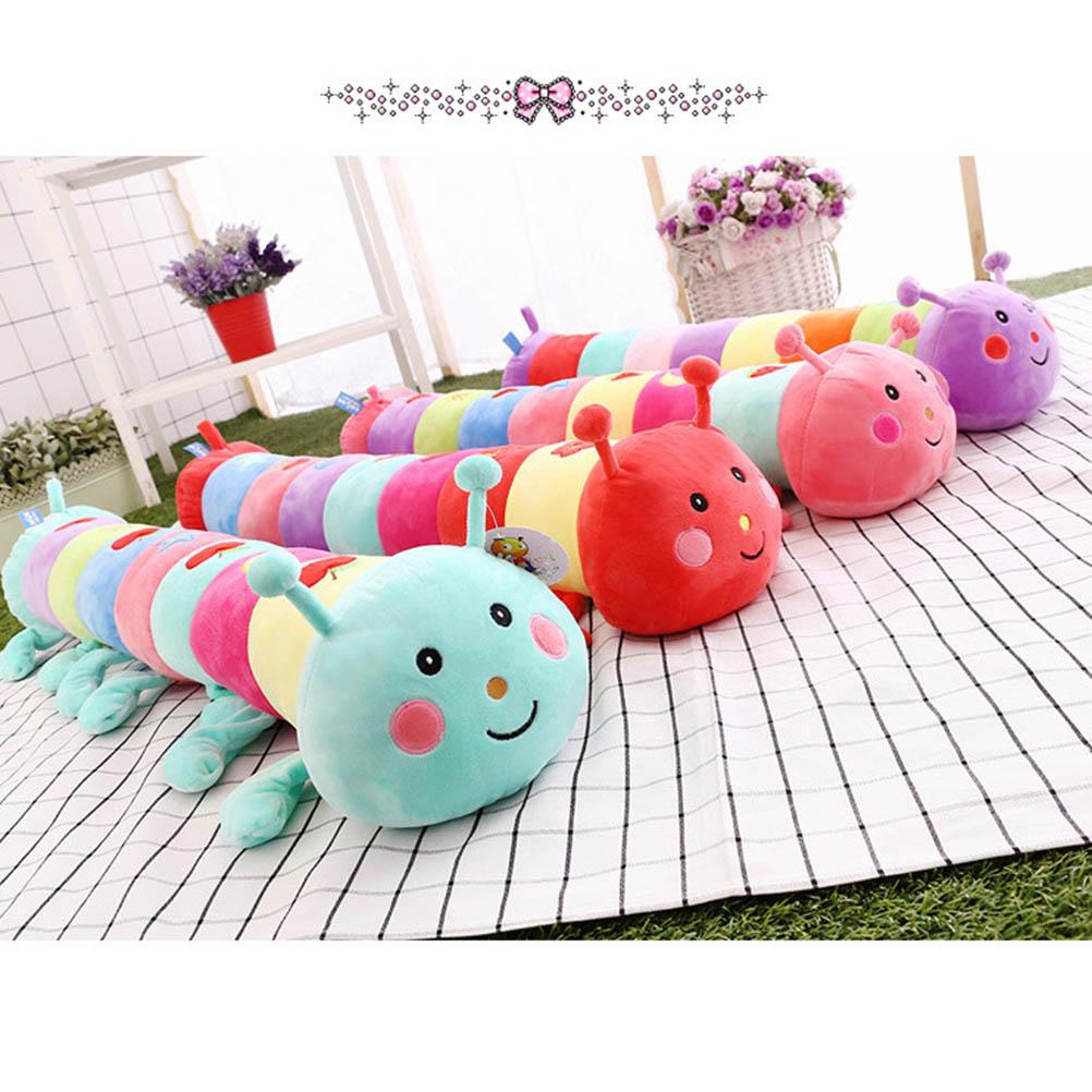 Мультяшная разноцветная гусеница, плюшевая игрушка, 55 см, диванная подушка, подушка, подарок для детей, милый персонаж фильма, игрушка на ден...