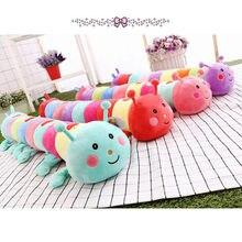 Desenhos animados multicolorido caterpillar pelúcia brinquedo 55cm lance travesseiro almofada crianças presente bonito filme personagem aniversário brinquedo presentes #20