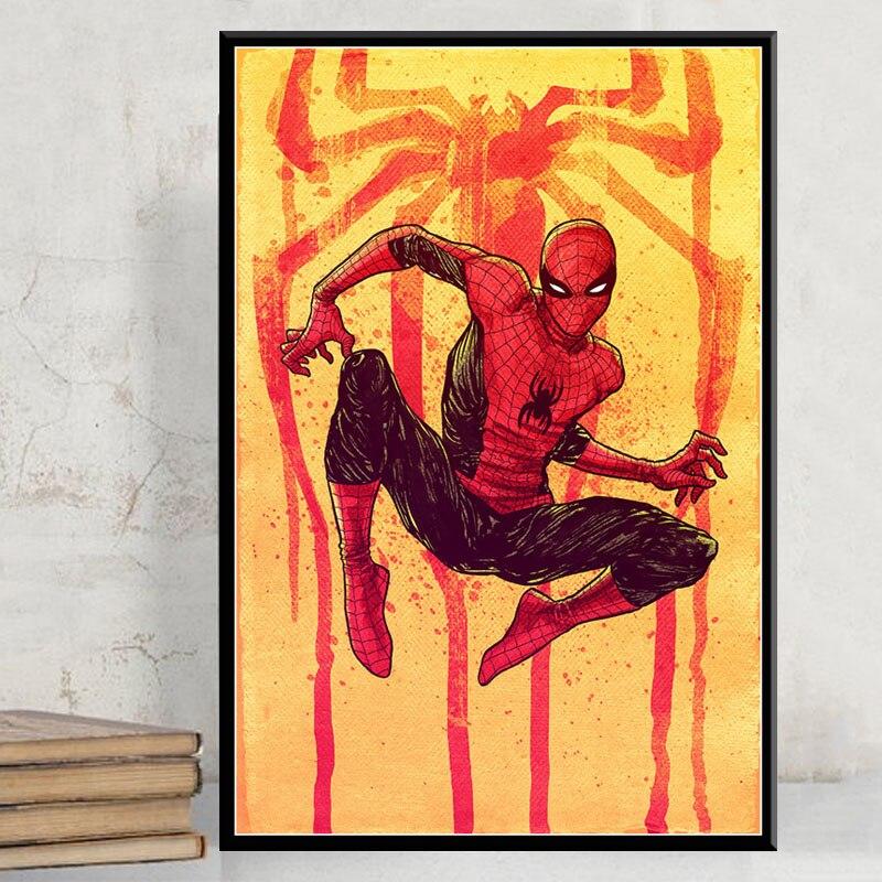 Orumcek Adam Sicak Marvel Super Kahraman Cizgi Film Sanat Boyama