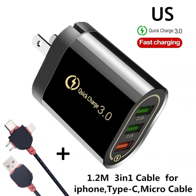 US 3in1 Cable Black