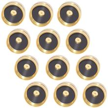 12pcs Brass Refill Propane Bottle Cap Universal For 1 Lb Gas Bowl Cylinder Sealed Protect Cap