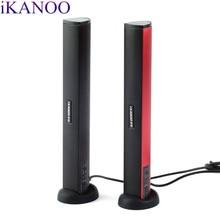 iKANOO USB мощность ноутбук ПК ноутбук аудио динамик аудио стерео усилитель Саундбар разъем для наушников с держателем