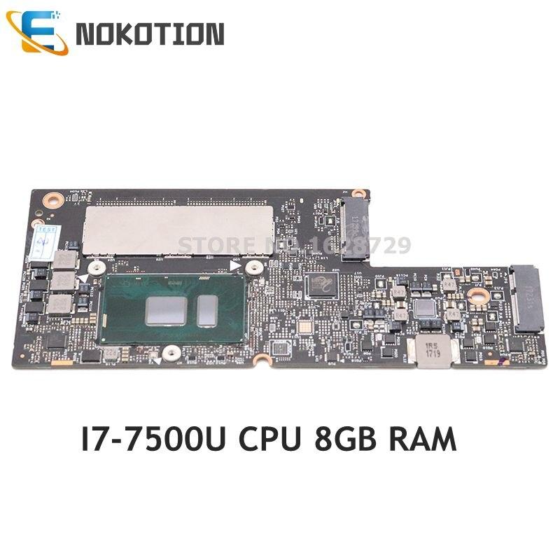 NOKOTION 5B20M35075 CYG50 NM-A901 материнская плата для lenovo yoga 910-13IKB материнская плата для ноутбука 13,3 дюймов SR2ZV I7-7500U 8 Гб памяти