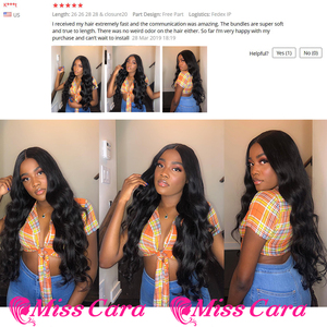 Image 5 - Brazilian Body Wave Bundles With Frontal 100% Remy Human Hair Bundles 3/4 With Frontal Miss Cara 13X4 Lace Frontal With Bundles