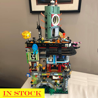 06066 In stock New Ninja Great Creator City Construction 4953pcs Model Modular Building Blocks Toys Bricks Compatible 70620