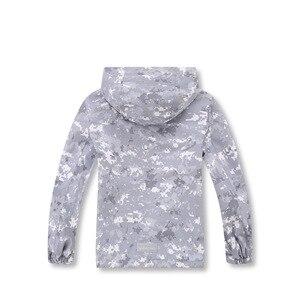 Image 3 - Gri kamuflaj sıcak polar çocuk ceket su geçirmez erkek ceketler çocuklar kıyafetler çocuk giyim sonbahar erken kış 110 150cm
