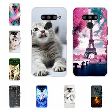 For LG V50 ThinQ 5G Case Soft TPU Silicone LM-V500N LM-V500EM Cover Paris Pattern Coque