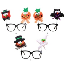 Halloween Glasses Frame Party Decoration Props Ghost Novelty Personality Funny Pumpkin Bat Kids Toy