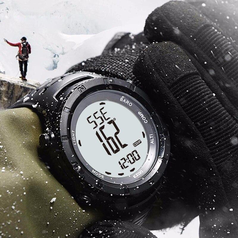 Reloj deportivo Digital EZON para hombre para exteriores para mujer, brújula de barómetro de altitud multifuncional para senderismo a prueba de agua-in Relojes deportivos from Relojes de pulsera    1