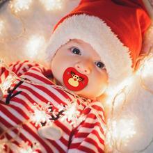 Силиконовая забавная Соска-пустышка для малыша Соска-пустышка Прорезыватель для зубов, игрушка для малышей Ортодонтическая Соска для младенцев, рождественский подарок, Детская соска для ухода