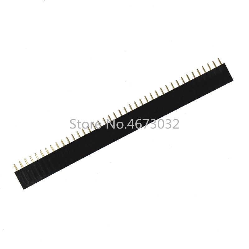10 Chiếc 1X40 PIN Hàng Đơn Thẳng Nữ PIN Đầu 2.54MM Dây Cổng Kết Nối Ổ Cắm 140 40 P 40PIN 40 PIN Cho PCB Arduino