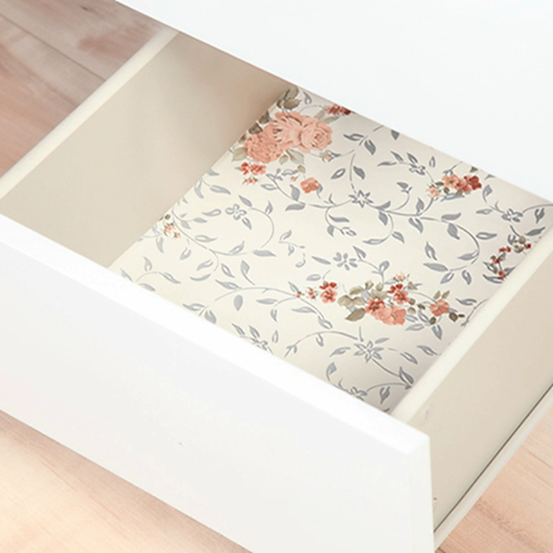 Wardrobe Cabinet Cupboard Paper Mat Antibacterial Drawer Sticker Non-slip Moisture Mildew Pad Table Drawer Cabinet Shelf Liners