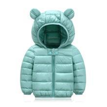 2020 jesienne zimowe ciepłe kurtki dla dziewczynek płaszcze dla chłopców kurtki dziewczynek kurtki dla dzieci kurtka z kapturem płaszcz ubrania dla dzieci tanie tanio Włókno poliestrowe COTTON 0 25 Moda Stałe REGULAR None Kids zipper Unisex Pasuje prawda na wymiar weź swój normalny rozmiar
