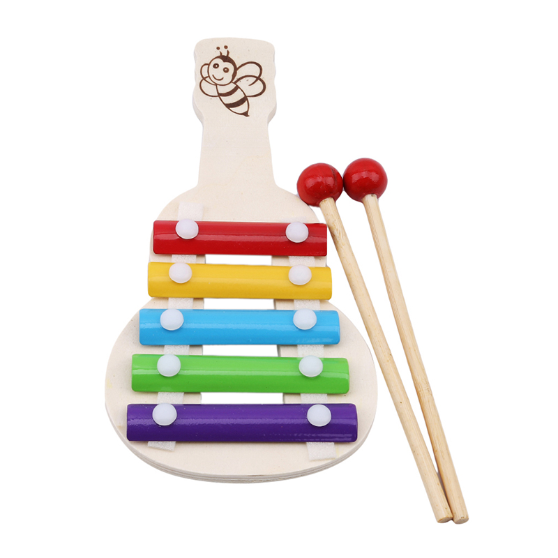 New Children Musical Toys Rainbow Wooden Xylophone Instruments Children Music Instrument Toy Learning & Education Puzzle Toy