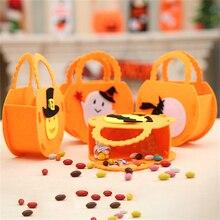 1Pc Halloween Decoration DIY Pumpkin Witch Specter Bat Candy Bags Childrens Gift Handbags Home Decor Party