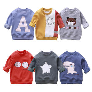 1-7 Years Children Sweatershirt New Winter Plus Velvet Clothes Girls Cartoon Warm Tops Pullover Autumn Tops For Boys Kid Outwear